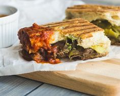 Try making your steak sandwich in a panini press for extra gooeyness. Get the recipe from MJ and Hungry Man.   - Delish.com