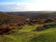 Dartmoor, Devon, England. So beautiful. Especially when you are lucky enough to see roaming sheep across the hills.