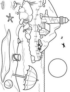 coloring page Landscapes - Landscapes