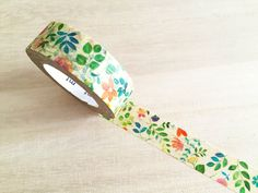 mt Washi Tape  - Watercolor Floral (1 pc) Japanese Stationery Masking Tape Deco Tape T0082 / 109 by TinyBees on Etsy