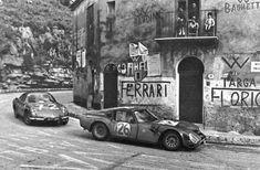 Alfa Romeo TZ2 leads Alpine-Renault A110 TargaFlorio