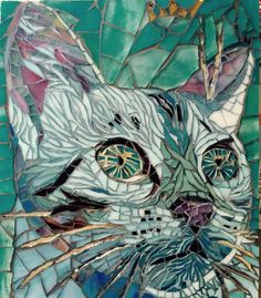 Chat -cat mosaic by Anne BEDEL
