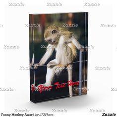 Shop Funny Monkey Award created by JFJPhoto. Printing Process, Monkey, Awards, Funny, Jumpsuit, Monkeys, Funny Parenting, Hilarious, Fun