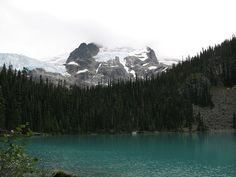 The view of Middle Joffre Lakes in Joffre Lakes Provincial Park - 2.5 hours from Vancouver BC