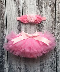 Love this Pink Tutu Diaper Cover & Chiffon Shabby Headband - Infant on #zulily! #zulilyfinds