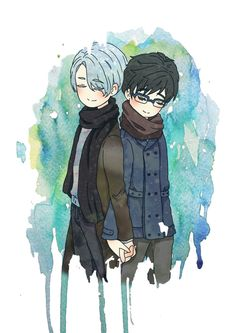 Viktuuri Vi http://sasuisgay.tumblr.com/post/154801304588/original-art-by-神奇豆豆the-permission-for-reprinting