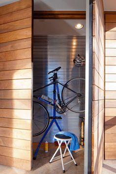hidden bike storage by Shelter