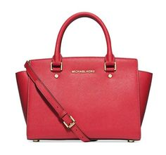 2bf107e92368 Michael Kors Selma Medium Satchel WATERMELON