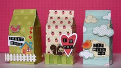This is such a cute and creative way to decorate these milk cartons and give some treats to a lucky person.