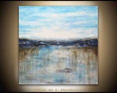 Paysage peinture original grande peinture 36 x 36 par RawArtGallery