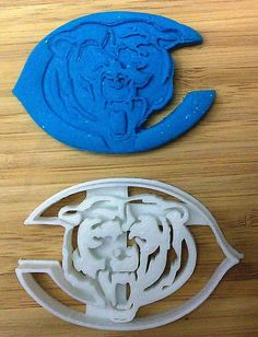 Chicago Bears Bear Cookie Cutter - Choice of Size (Sports Football) - 3D Printed #Handmade3DPrint