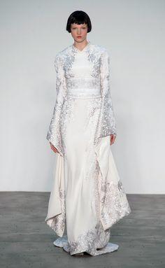 Kimono Style Dress Ideas: I love the bold red against the white - I ...