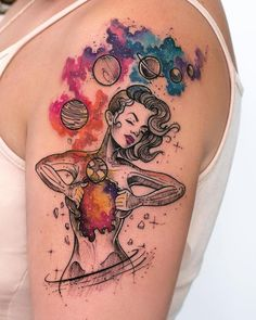 Robson Carvalho Turns His Beautiful Drawings Into Magical Tattoos Weltraum-inspiriertes Tattoo © Tattoo-Künstler Robson Carvalho 💖💖💖💖💖 Body Art Tattoos, New Tattoos, Sleeve Tattoos, Tattoos For Guys, Tatoos, Drawing Tattoos, Unique Tattoos For Women, Unique Tattoo Designs, Drawing Hair