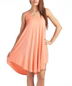 Look at this #zulilyfind! Blush Sleeveless Dress #zulilyfinds