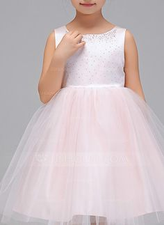 [US$ 38.99] A-Line/Princess Knee-length Flower Girl Dress - Polyester Sleeveless…