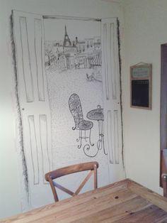 Paris sketch party backdrop