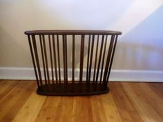 Vintage Mid Century Wood Magazine Rack by dishreincarnation, $48.00
