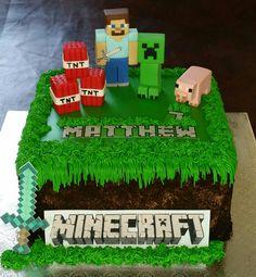 Minecraft Birthday Cake Minecraft Birthday Cake, 10 Birthday Cake, Harry Birthday, Minecraft Cake, Baby Boy Birthday, Minecraft Party, Boy Birthday Parties, 10th Birthday, Birthday Party Decorations