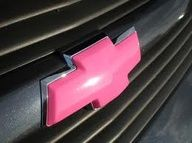 Pink Chevy emblem! I have been looking for one for my car (:
