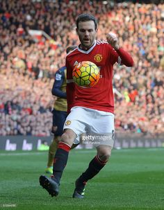Juan Mata of Manchester United in action during the Barclays Premier League match between Manchester United and Arsenal at Old Trafford on February 28 2016 in Manchester, England.