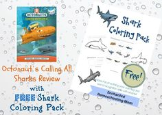 Octonaut's Calling All Sharks Review {PLUS giveaway!} with FREE Shark Coloring Pack #freeprintable #coloringpack