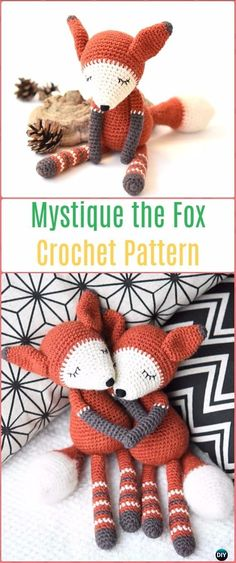 Crochet Amigurumi Mystique the Fox Paid Pattern - Crochet Amigurumi Fox Patterns