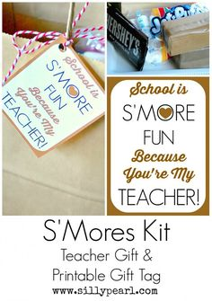 Smores Kit Teacher Gift and Printable Gift Tag - The Silly Pearl