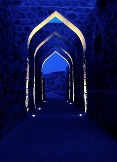 blue arabic tunnel