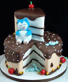 Cake Slice pokemon cake #pokemoncake