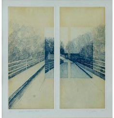 Susanne Gottberg: Kesken liikkeen, 1997, akvatinta - pehmeäpohja, 30×28 cm