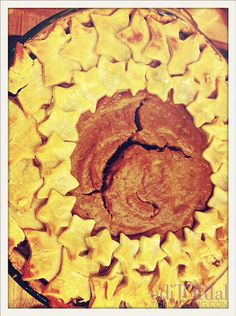 Pumpkin pie with star crust