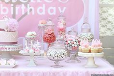 This beautiful ballerina party was sent to us by Rosanne at Couture Candy Shoppe. She created this party for a little girl's first birthday. The little girl loves to dance and the color pink so this theme seemed like the perfect way to celebrate her first year. Rosanne used a color palette of pink, grey and …