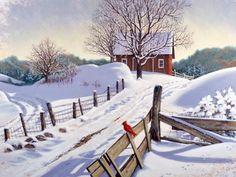 """Winter Shadows"" by John Sloane Good Morning Winter, Winter Szenen, Morning Morning, Saturday Morning, Morning Quotes, Winter Landscape, Landscape Art, Christmas Art, Winter Christmas"