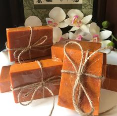 Natural Turmeric and Rosehip Acne Face & Body Soap; Sensitive Skin, Eczema, Psoriasis, Skin Lightening and Brightening Exfoliating Soap by SoapsAndButtersLA on Etsy Exfoliating Gloves, Exfoliating Soap, Citrus Essential Oil, Essential Oil Blends, Essential Oils, African Soap, Turmeric Soap, Psoriasis Skin, Body Soap