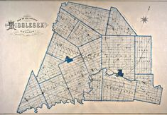 Map of the County of Middlesex Ontario I Am Canadian, My Roots, Vintage London, Genealogy, Ontario, Maps, Louvre, Pictures, Travel