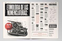 Gorgeous Layouts and Type: Breviario Magazine - Editorial Design by Boris Vargas Vasquez, via Behance