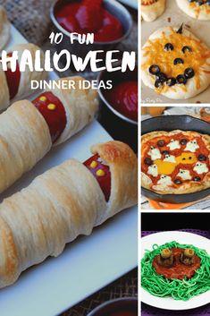 10 fun Halloween dinner ideas to wow guest at your next Halloween party. #halloween #halloweendinners #kidfriendly #halloweenrecipe