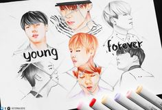 #BTS #YoungForever #fanart Not mine, credit to owner