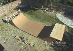 How to build a halfpipe skateboard ramp from start to finish