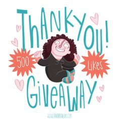"""Not sure if you noticed but our Facebook page has over 500 Likes!  So, to celebrate, we're giving away two sets of cute stuff: http://sandraortuno.blogspot.com/  To be in with a chance of winning, drop by our Facebook page https://www.facebook.com/sandraortuno, """"Like"""" our page and share this picture PUBLICLY on your wall. Deadline is January 31! #giveaway #illustration"""