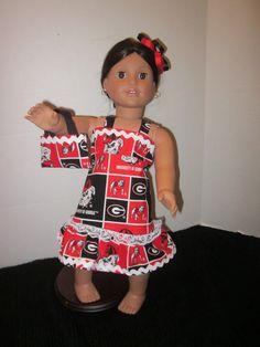 Georgia Bulldog American Girl 18 Inch Doll by SweetpeasBowsNmore, $15.00