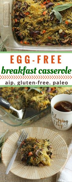 Egg-Free Breakfast Casserole (AIP, Paleo) - a delicious and healthy breakfast casserole that uses spaghetti squash in place of the eggs!  | fedandfulfilled.com