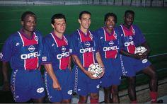 César Dely Valdes, Laurent Fournier, Youri Djorkaeff, Patrice Loko et Bruno N'Gotty