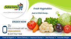 Fresh Vegetables Just a Click Away.. goo.gl/RGOS4A   goo.gl/LVGhmK  7304040040
