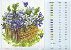 Cross stitch: cross stitch flowers
