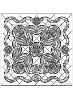A line drawing for you to enjoy. note that you can see the sew lines in the seam allowance on this drawing.so don't be alarmed. Just color over them! Mandala Coloring Pages, Colouring Pages, Quilting Projects, Quilting Designs, Star Quilts, 3d Quilts, Foundation Paper Piecing, Quilling Patterns, English Paper Piecing
