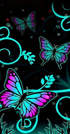 By Artist Unknown. Butterfly Wallpaper Iphone, Neon Wallpaper, Heart Wallpaper, Cute Wallpaper Backgrounds, Cellphone Wallpaper, Flower Wallpaper, Iphone Wallpaper, Beautiful Flowers Wallpapers, Pretty Wallpapers