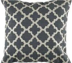 Rizzy Dark Gray Reverse  Chain Stitch Throw Pillow