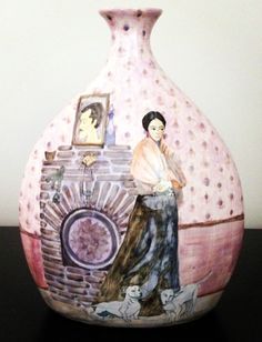 pink - vase - Frida - interiors - Evelyn Tannus - ceramic