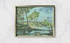 Michigan Lake House, Small Lake, Paint By Number, Vintage Frames, Blue Flowers, Dawn, Numbers, Texture